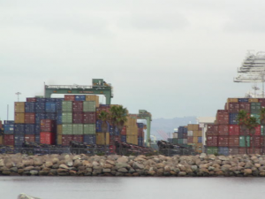 Some containers just get stacked up for a while.