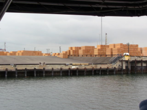 Lumber gets the same treatment as containers.